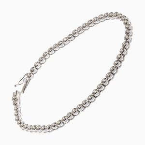 3.70 Carat Diamonds Tennis Bracelet on 18 Karat White Gold