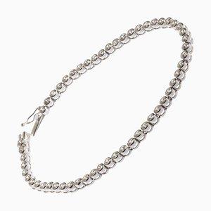 3,70 Karat Diamanten Tennis Armband aus 18 Karat Weißgold