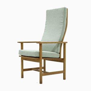 Eichenholz 2257 Sessel mit hoher Rückenlehne von Børge Mogensen für Fredericia Stolefabrik, 1960er