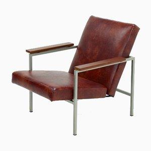 Dutch Adjustable Leather Armchair, 1960s