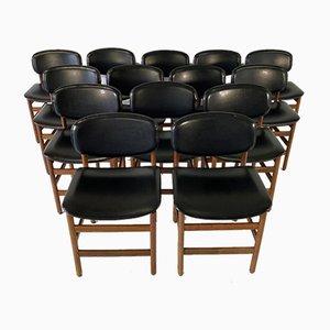 Teak Danish Dining Chairs, 1960s, Set of 14