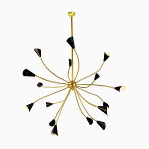 Mid-Century Sputnik Chandelier with Flexible Arms