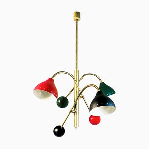 Mid-Century Chandelier with Flexible Arms, 1960s