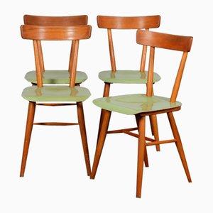 Grüne Vintage Stühle von TON, 1960er, 4er Set