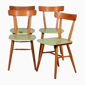 Vintage Green Chairs from TON, 1960s, Set of 4