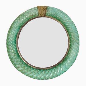 Round Wall Mirror by Carlo Scarpa for Venini, 1930s