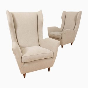 Italian Model 512 Wingback Lounge Chairs by Gio Ponti, 1950s, Set of 2