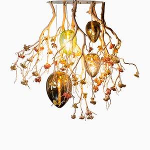 Flower Power Manzanita & Egg Lamp Chandelier from Vgnewtrend, Italy