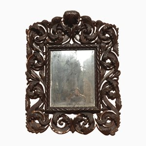 Italian Mirror with Carved Frame, 17th Century
