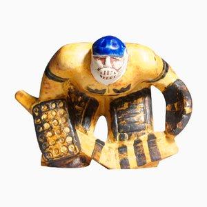 Eishockey Torhüter aus Keramik von Lisa Larson für Gustavsberg