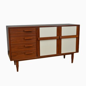 Vintage Sideboard in Teak with Doors and Drawers, Italy, 1960s