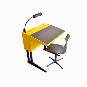 Vintage Yellow Children's Desk & Chair by Luigi Colani for Eilmar Flötotto