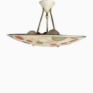 Mid-Century Cream Ceiling Lamp from Erco, 1950s
