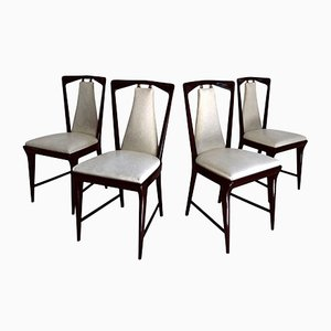 Italienische Mid-Century Esszimmerstühle von Osvaldo Borsani, 1950er, 4er Set