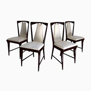 Mid-Century Italian Dining Chairs by Osvaldo Borsani, 1950s, Set of 4