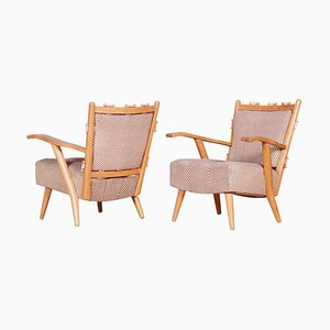 Ash Armchairs from Úluv Workshop, 1950s, Set of 2