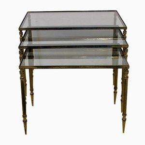 Tavolini ad incastro di Maison Charles, set di 3