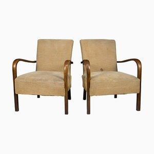 Art Deco Armlehnstühle von Fischel, 1930er, 2er Set