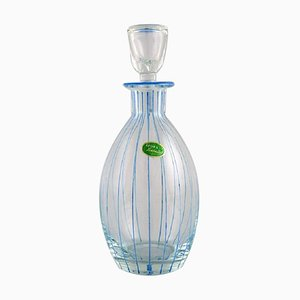 Åfors Carafe in Hand-Painted Mouth-Blown Art Glass, 1960s