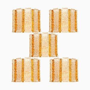 Drum Vergoldete Wandleuchte aus Eisglas von JT Kalmar, Österreich