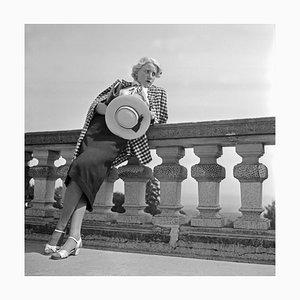 Woman Leaning on Balcony Solitude Castle, Stuttgart Germany, 1935