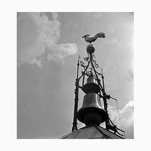 Wetterfahne Glocken an der Spitze des Belfrieds Stuttgart, Deutschland, 1935