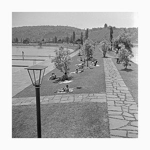 Sunbathers on the Shore of Max Eyth Lake, Stuttgart Germany, 1935