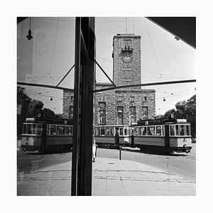 Tram Line No. 2 Reflecting Main Station, Stuttgart Germany, 1935