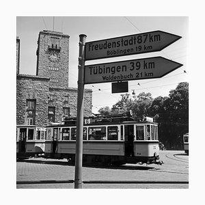 Tram Line No. 6 at Main Station, Stuttgart Germany, 1935