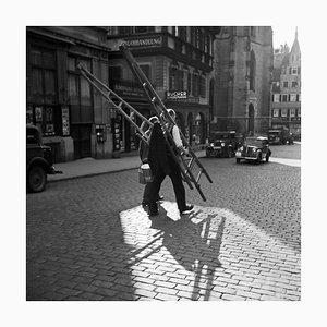 Workers Crossing the Street, Stuttgart Germany, 1935