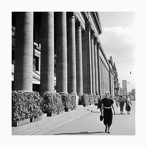 Woman Coming Along the Koenigsbau Palace, Stuttgart Germany, 1935