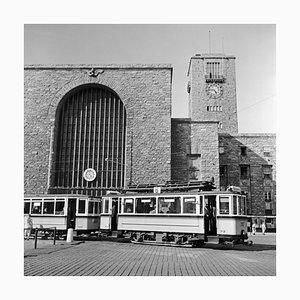 Tram Line No. 6 in Front of Main Station, Stuttgart Germany, 1935