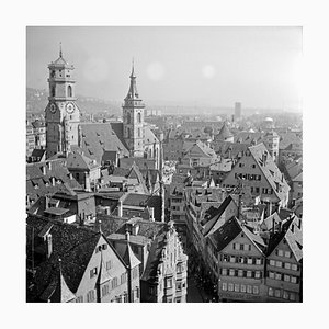 View From City Hall Belfry to Old City, Stuttgart Germany, 1935