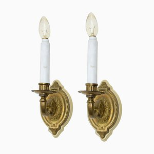 Antike historisierende Wandlampen, Ende 19. Jh., 2er Set