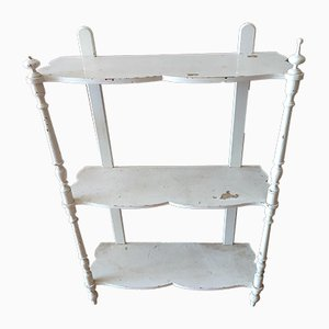 Fir Wood Shelves Painted White, Late 19th Century