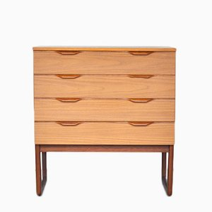 Scandinavian Teak Chest of Drawers, 1950s