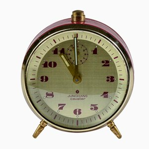 Vintage Red Alarm Clock with Chime from Junghans, 1950s