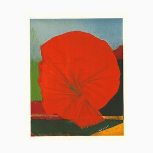 Max Ernst, Red Flower, Original Lithograph, 1957