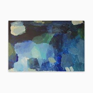 Unter Wasser, abstraktes Gemälde, 2021