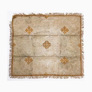 Antike eucharistische Luft mit Silber- und Goldfäden bestickt, 19. Jh