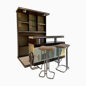 Italienisches Mid-Century Bar Set mit Zwei Barhockern, 1960er