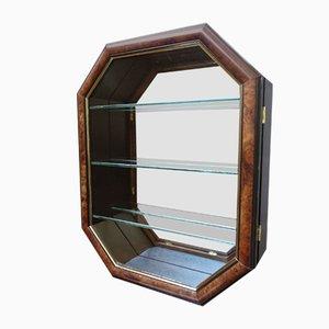 Hängeschrank mit Glastür und Spiegelglas, Deutschland, 1980er
