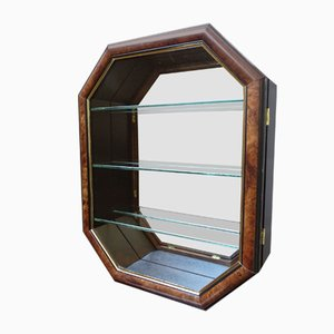 Hanging Cabinet with Glass Door and Mirror Glass, Germany, 1980s