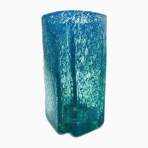 Quadratische Art Deco Vase aus Kunstglas, Tschechoslowakei, 1930er