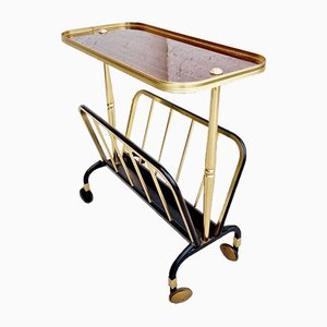 Mid-Century Trolley with Magazine Rack from MB Italy, 1960s