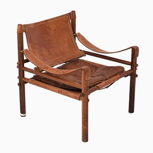 Rosewood & Leather Sirocco Armchair by Arne Norell, 1960s