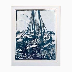 Rein Snapper, Wood Print, Dutch Harbor, 1967