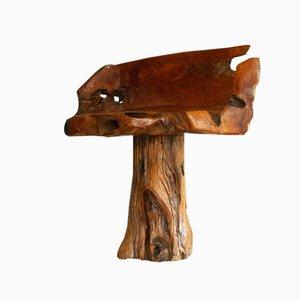 Französischer Primitivistischer Stuhl aus Naturholz, 1970er