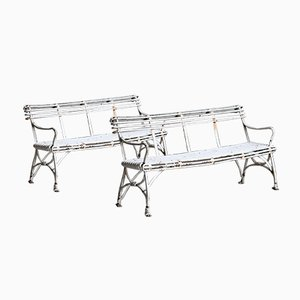 Garden Benches from Grassin à Arras, Set of 2