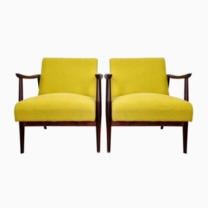 Mid-Century Scandinavian Lounge Armchairs, 1960s, Set of 2